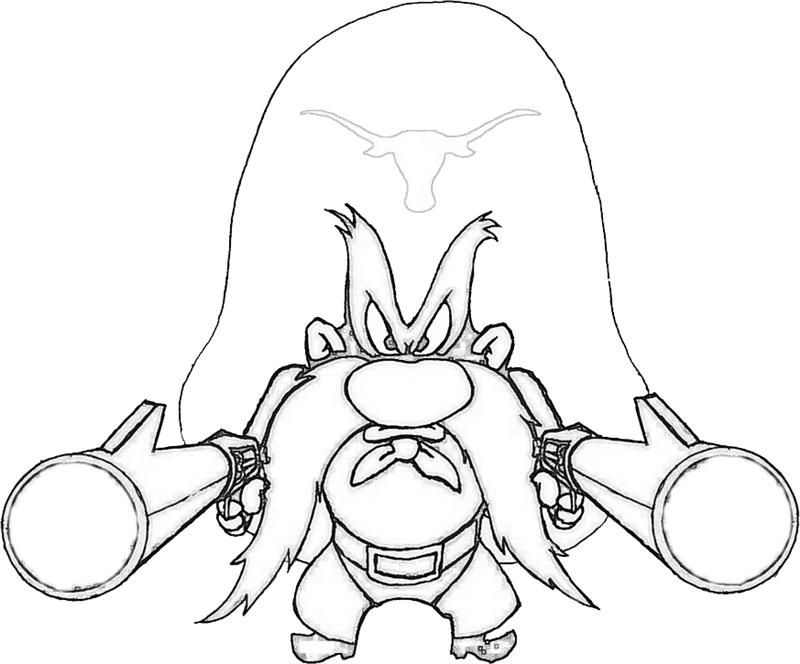 800x664 Printable Taz Wanted Yosemite Sam Character Coloring Pages