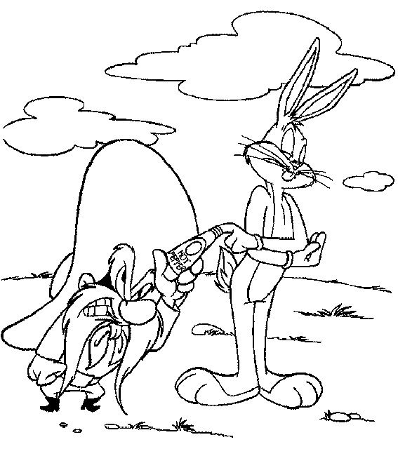 567x650 Looney Tunes Coloring Book Pages Cartoon Looney Tunes