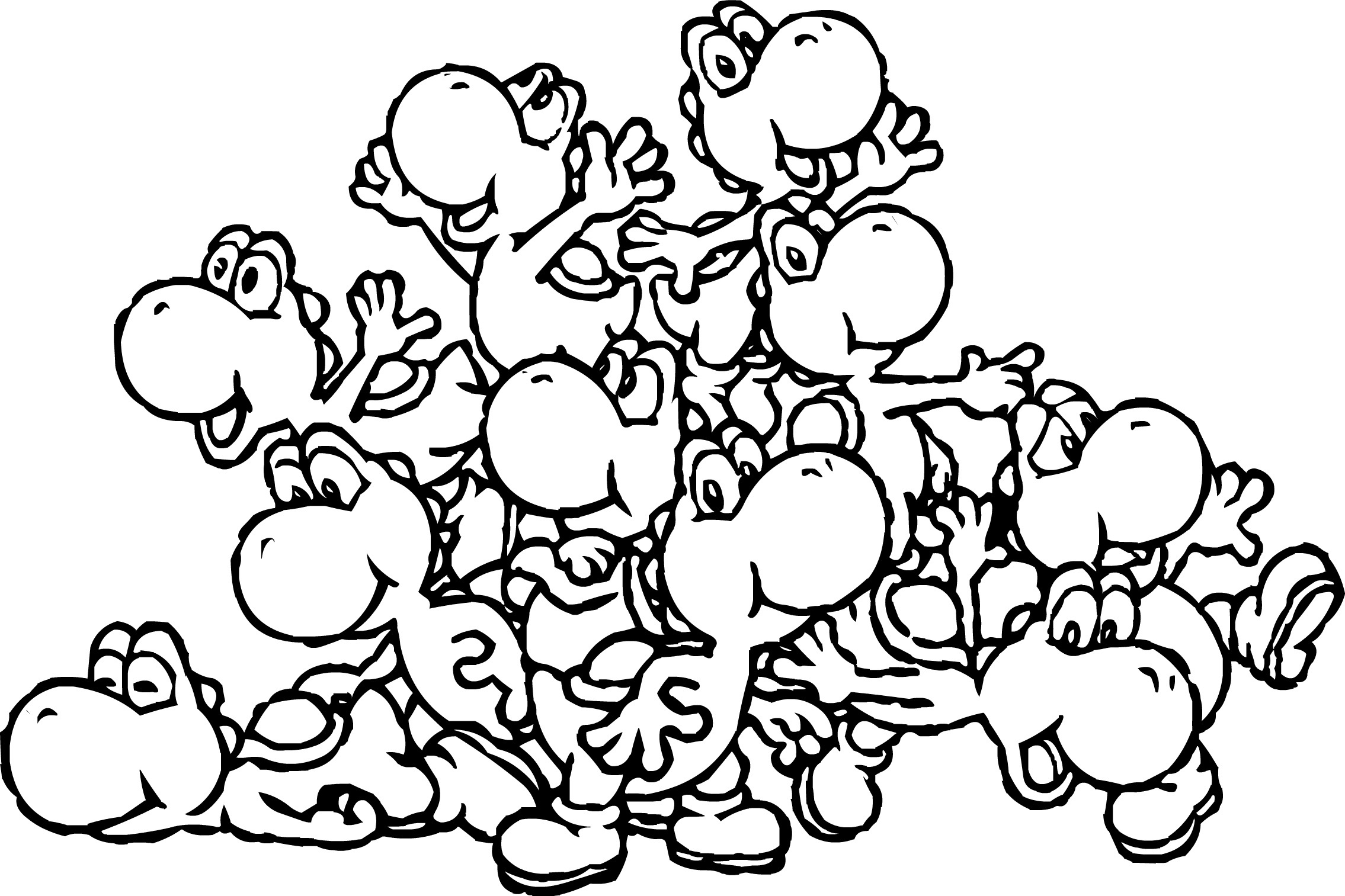 2270x1513 Innovative Mario And Yoshi Coloring Pages To P