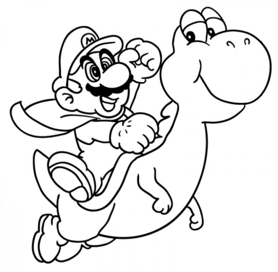 900x880 Luxury Mario And Yoshi Coloring Pages To Print