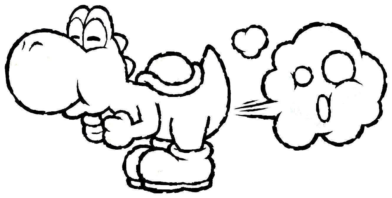 1329x672 Mario And Yoshi Coloring Pages Wagashiya