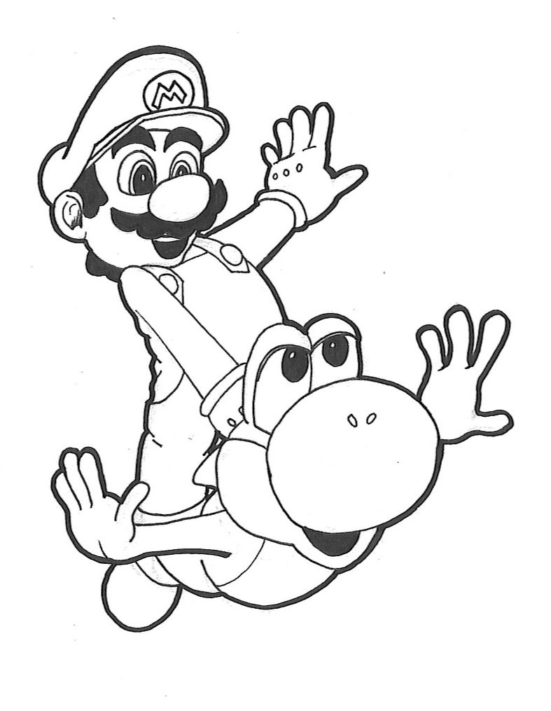 787x1015 Baby Yoshi Coloring Pages Download Coloring For Kids
