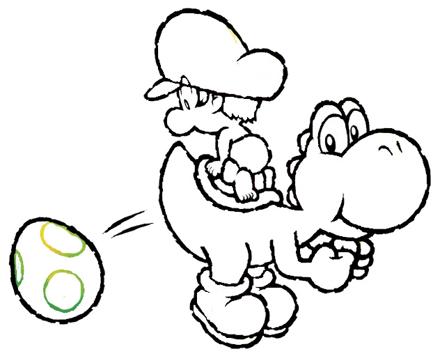 632x511 Yoshi Coloring Pages Kids Throughout Plans