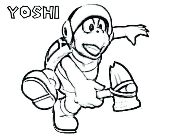 600x464 Yoshi Coloring Pictures Coloring Page Coloring Pages In Kart