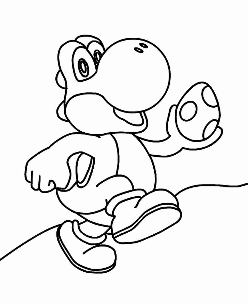975x1188 Free Printable Yoshi Coloring Pages For Kids Within Page Olegratiy