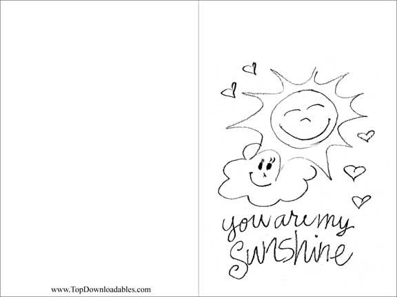 576x432 Free Printable You Are My Sunshine Party Invitation Template
