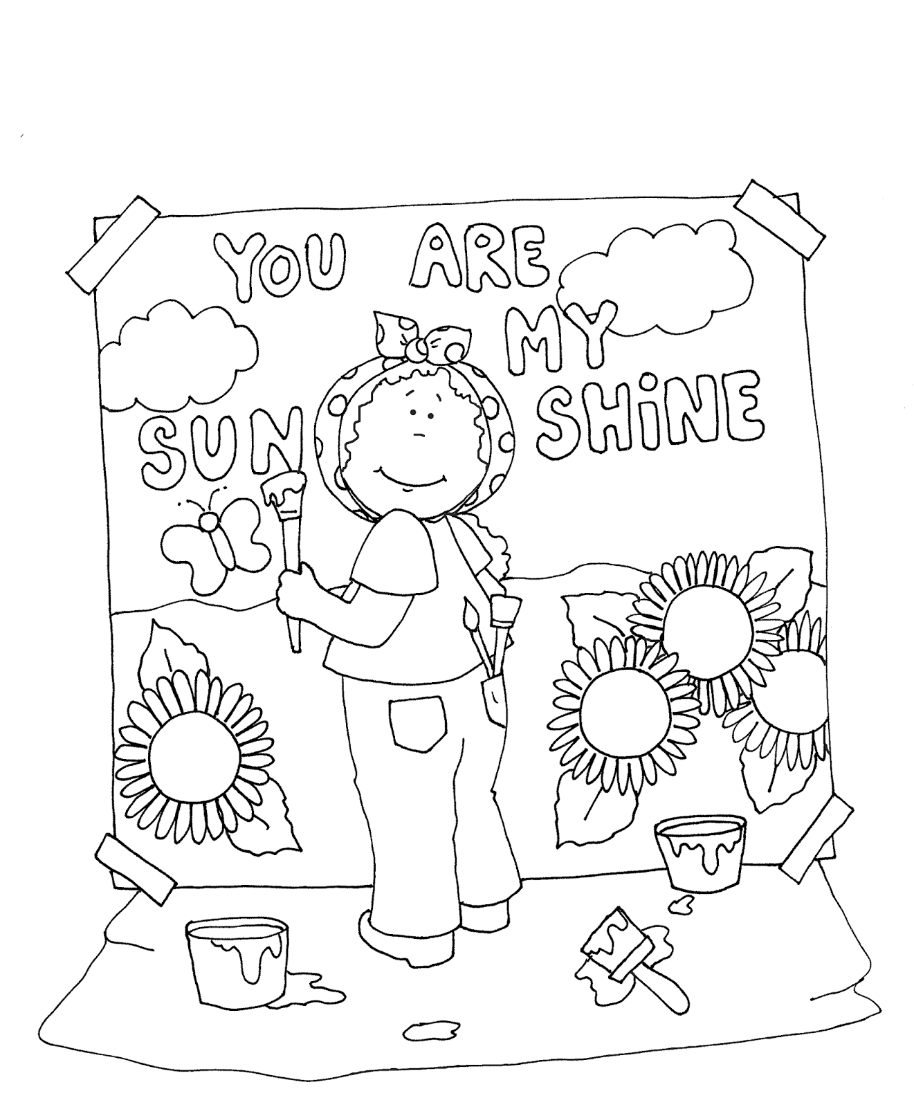 1321x1600 You Are My Sunshine Coloring Pages Sunshine