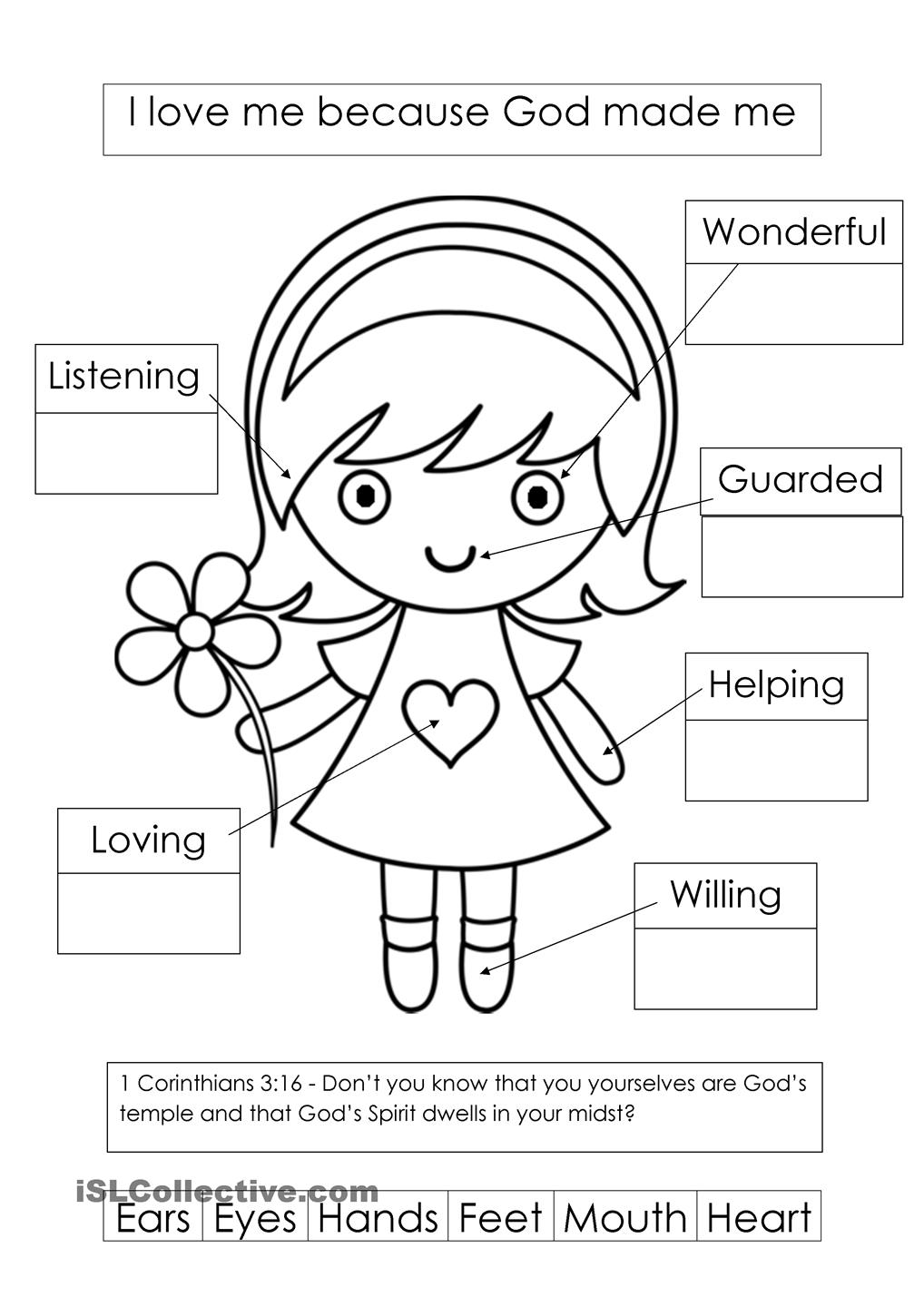 1018x1440 God Made Me Special Coloring Pages