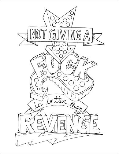 389x504 Adult Coloring Book Pages Swear Words