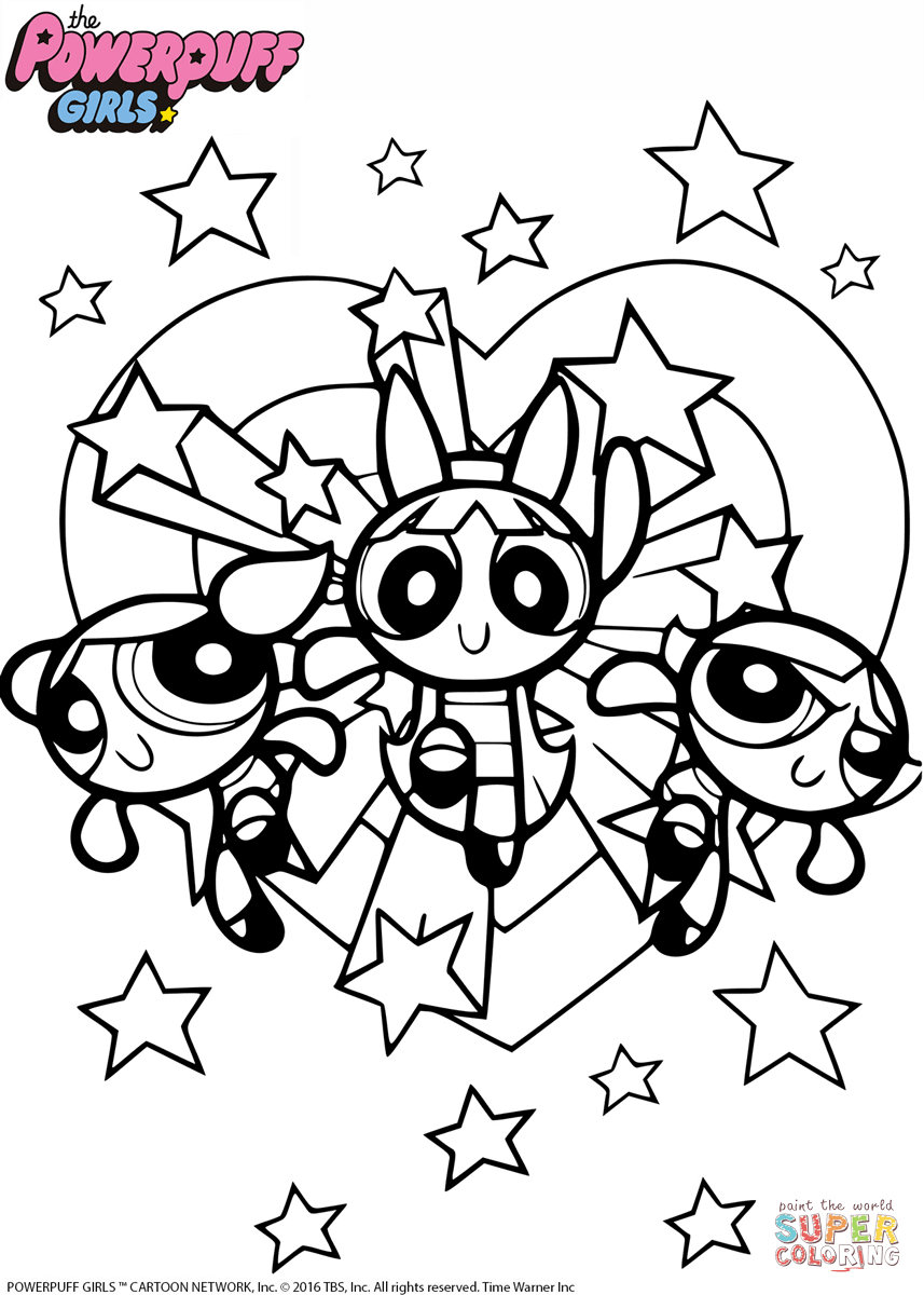 857x1200 Powerful Powerpuff Girls Coloring Sheets Special Unique Ideas