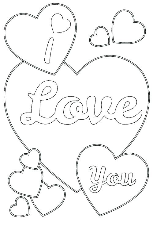500x750 I Love You Coloring Pictures Love Coloring Pictures Printable