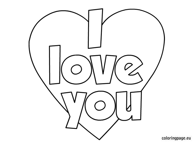 804x595 I Love You Heart Coloring Pages Valentines Day I Love You Coloring