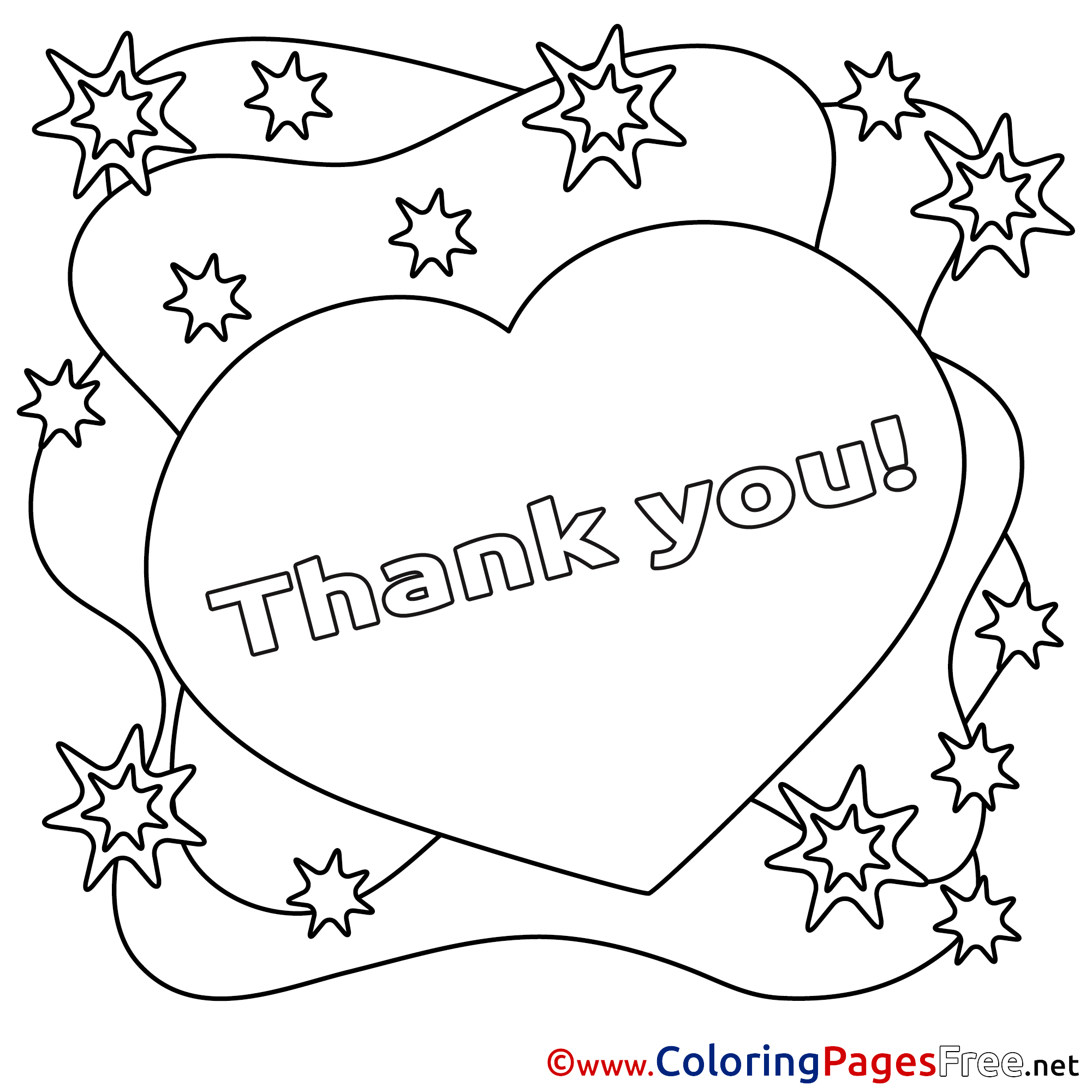 2001x2001 Thank You Coloring Pages