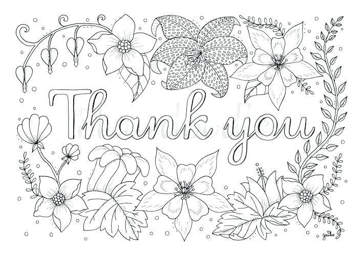 709x501 Thank You Coloring Pages Charming Idea