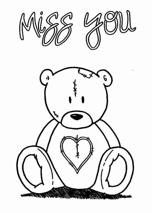 600x844 Thinking Of You Coloring Pages Svago Info Magnificent I Miss