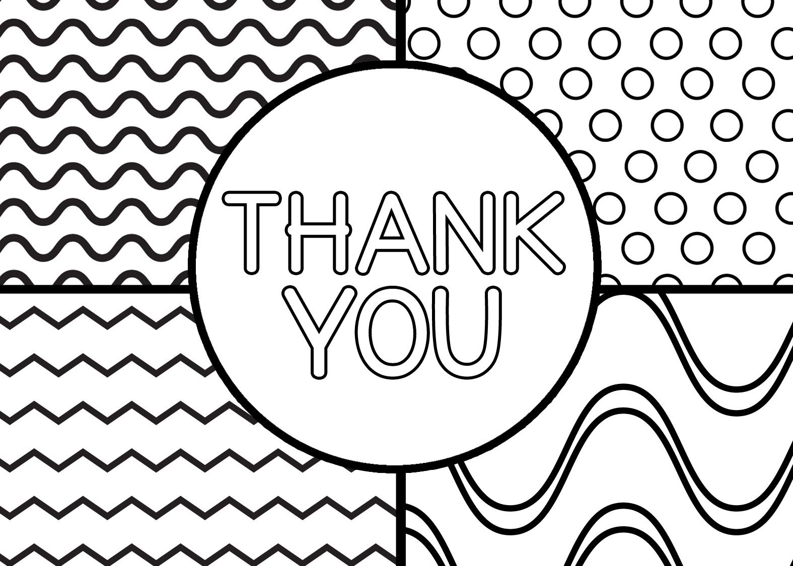 1575x1125 Unbelievable Thank You Coloring Pages Printable Cards Image