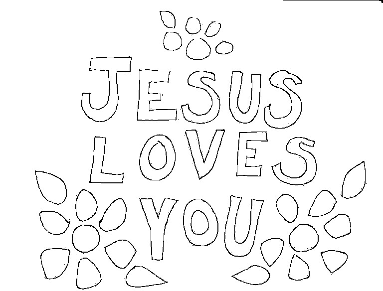 768x584 Coloring Pages Jesus Loves You Coloring Page