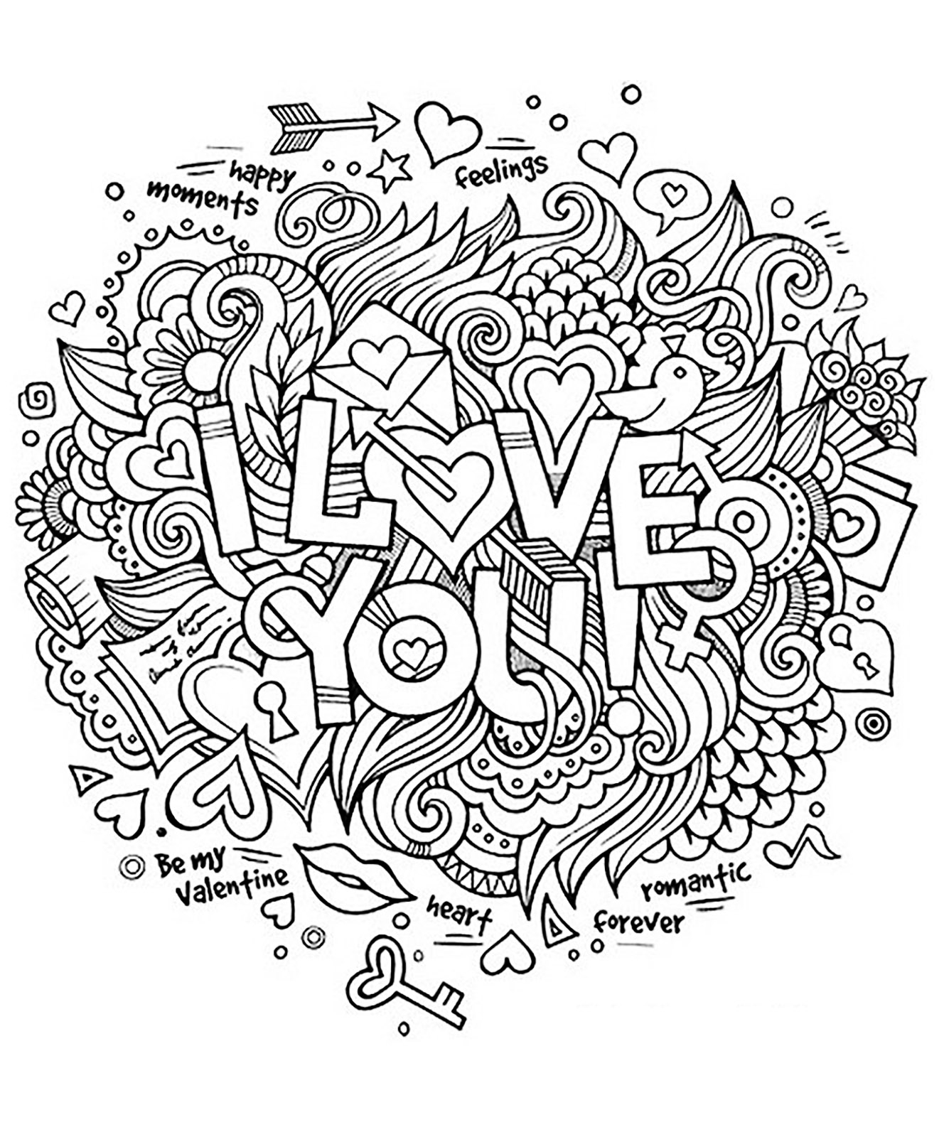 1328x1586 I Love You Coloring Pages For Adults Collection
