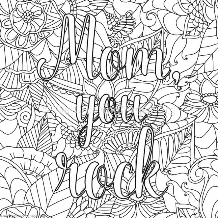 700x700 Mom You Rock Coloring Pages