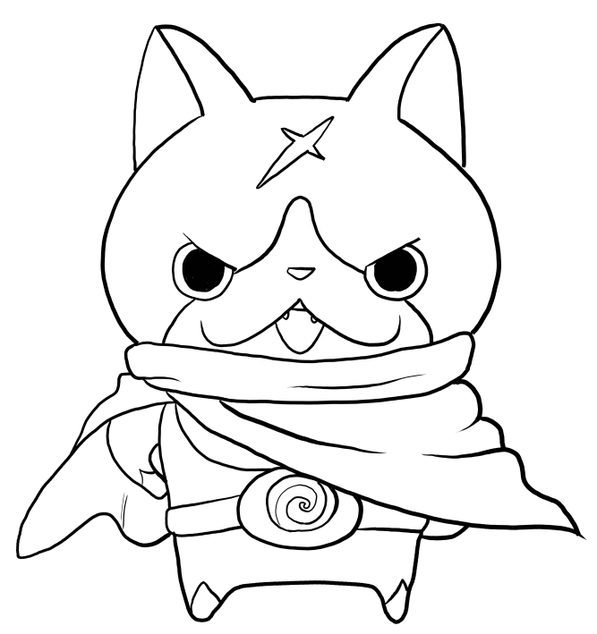 667x709 Hovernyan From Yo Kai Watch Coloring Pages