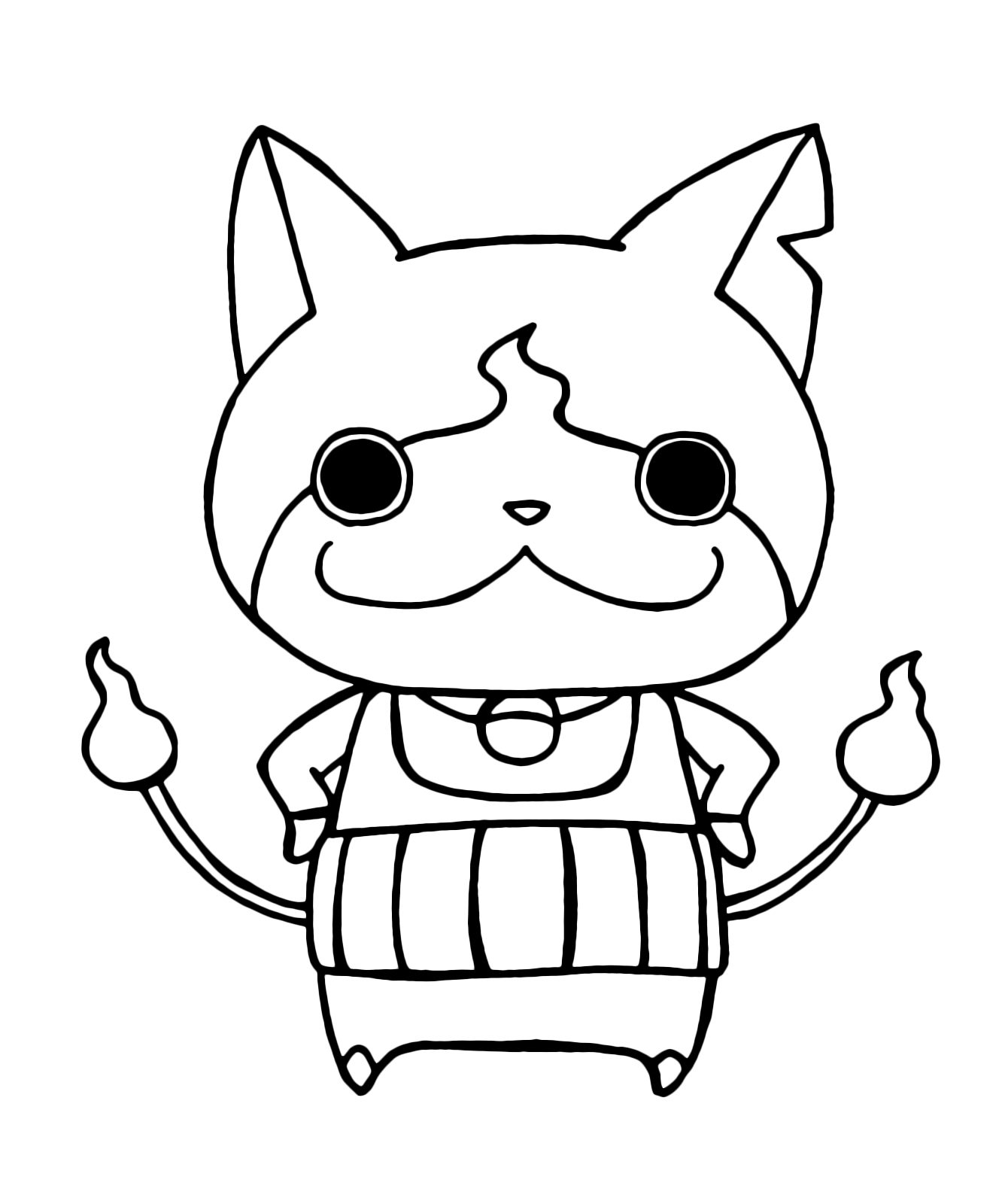 1340x1600 Kai Watch Yo Kai Jibanyan With His Arms On His Hips Download