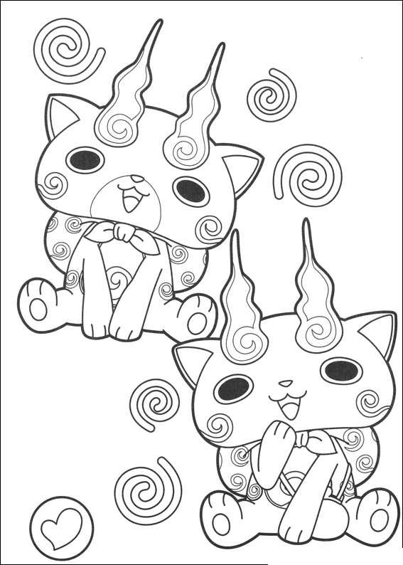 567x794 Kids N Coloring Page Youkai Yokai Watch Komasan