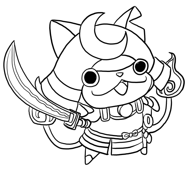 620x567 Shogunyan From Yo Kai Watch Coloring Pages