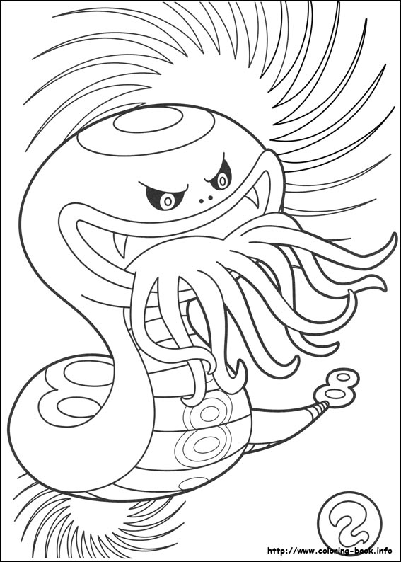 567x794 Yo Kai Watch Coloring Picture