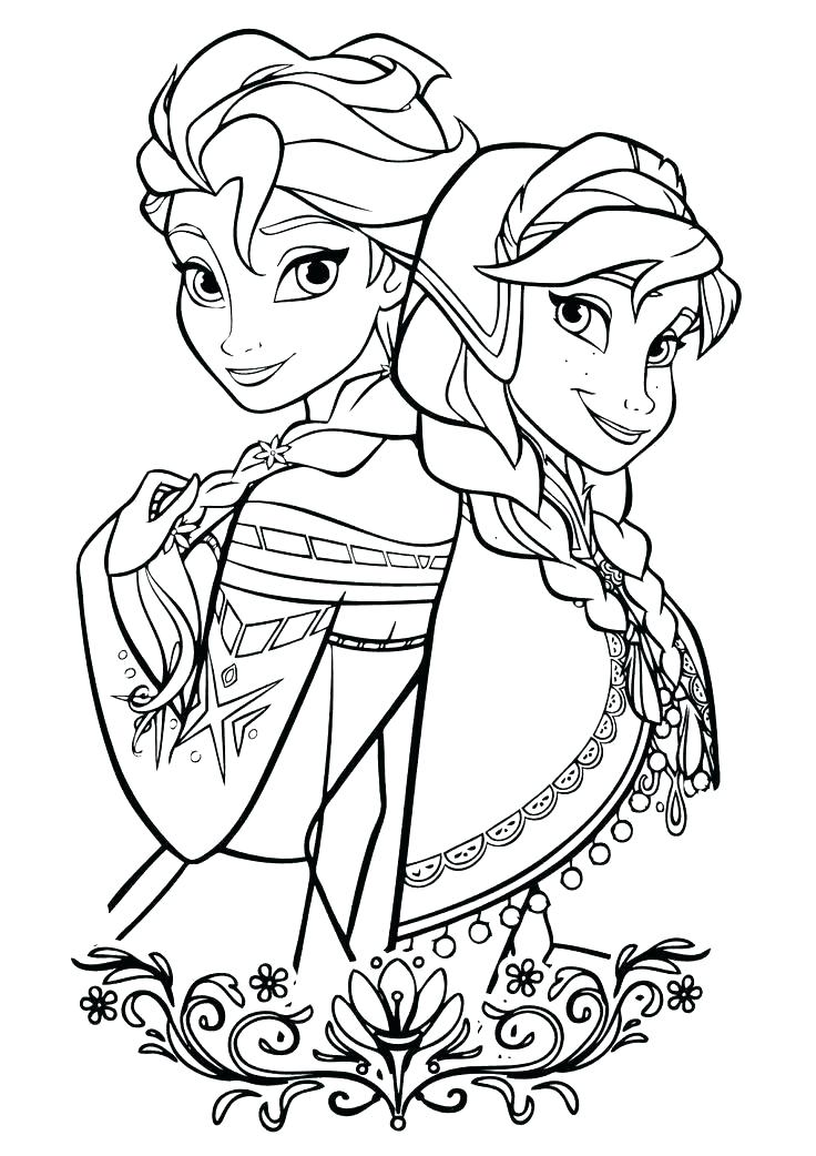 736x1042 Elsa Coloring Pages Also Coloring In Page Frozen Colouring Elsa