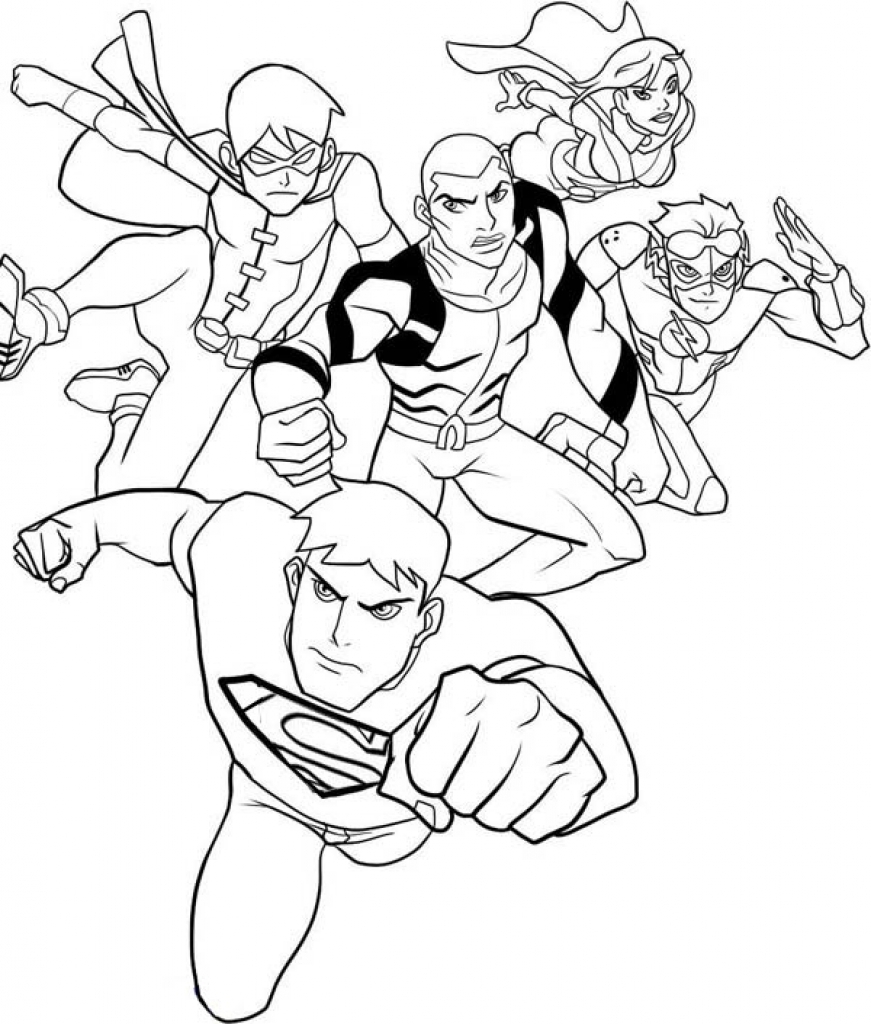 871x1024 Young Justice Coloring Pages Newyork