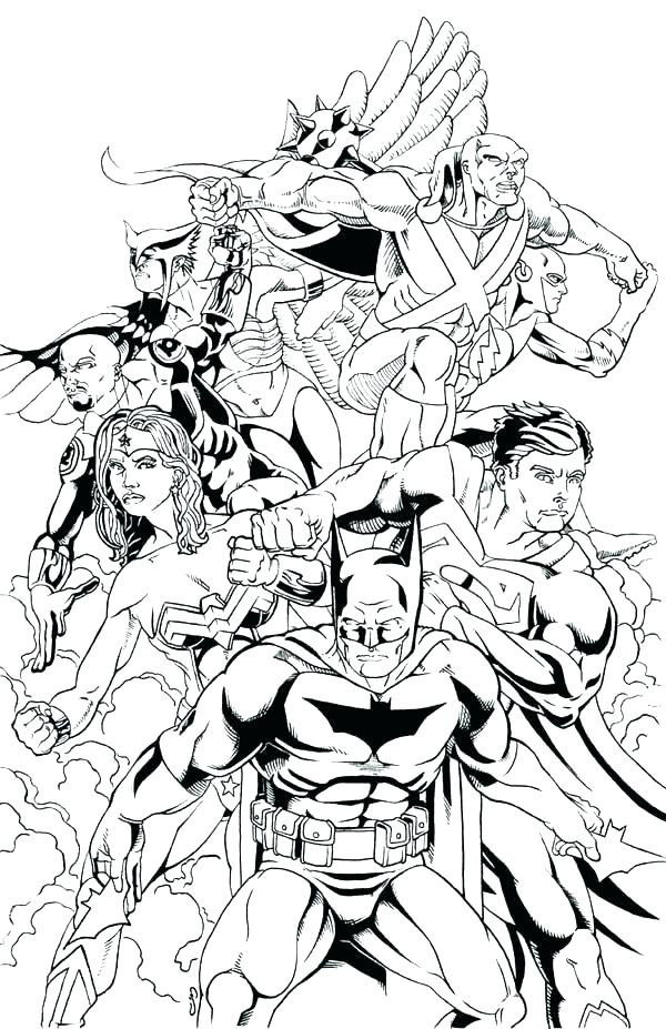 600x927 Young Justice Coloring Pages Justice League Coloring Pages