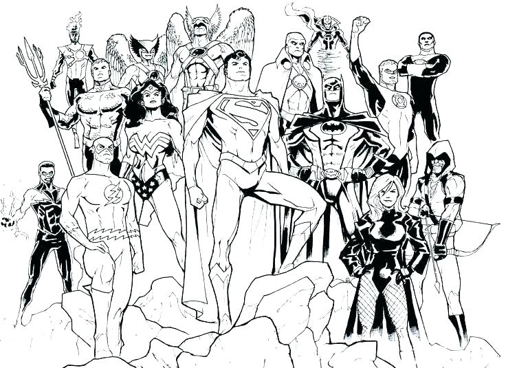736x535 Young Justice Coloring Pages Justice League Coloring Pictures Free