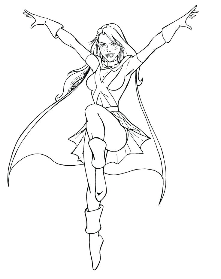 736x928 Young Justice Coloring Pages Miss Martian