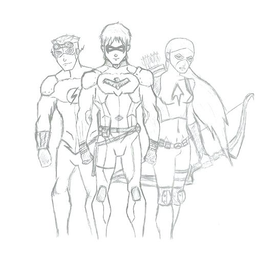 500x500 Young Justice Coloring Pages Young Justice Coloring Page Fine