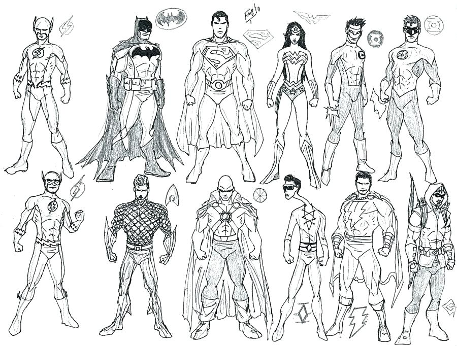 900x682 Young Justice Coloring Pages Young Justice Coloring Pages Exciting