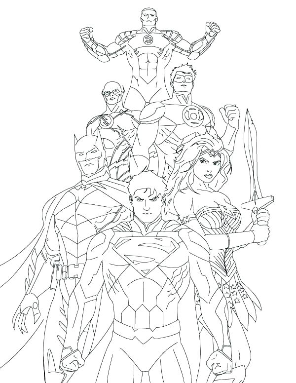 600x776 Coloring Pages Justice League Young Justice Coloring Pages Justice