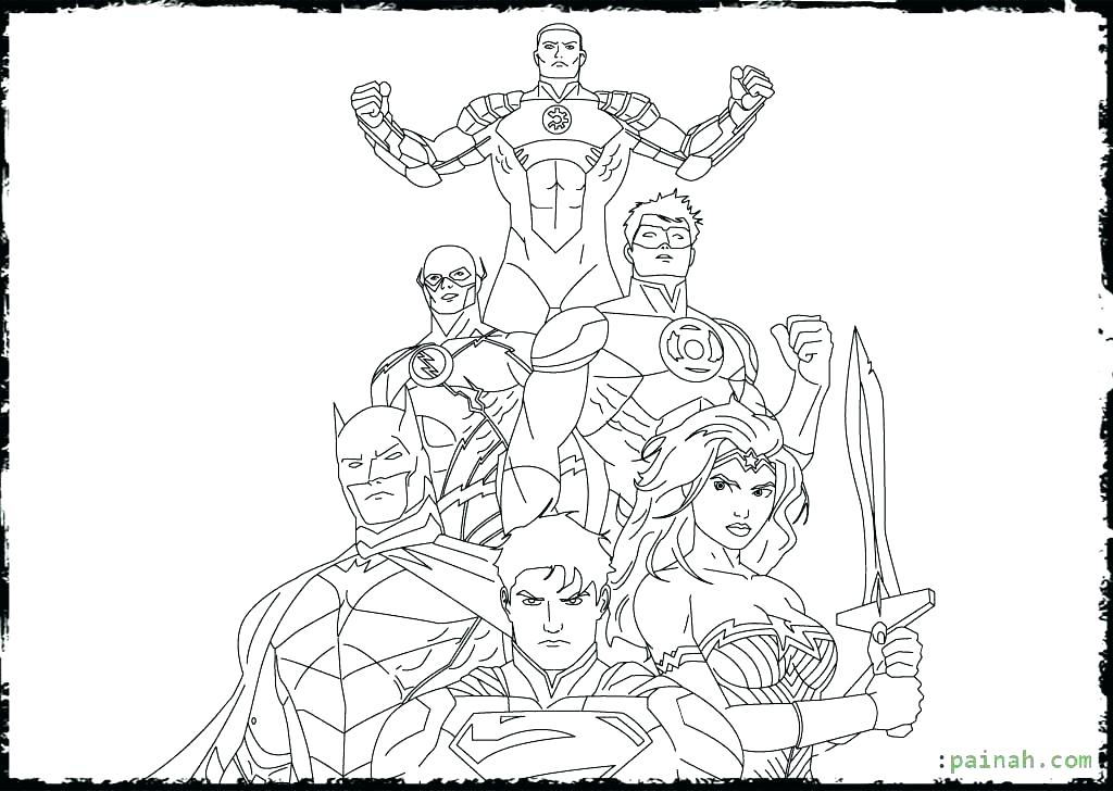 1024x728 Justice League Coloring Pages Coloring Sheet Young Justice