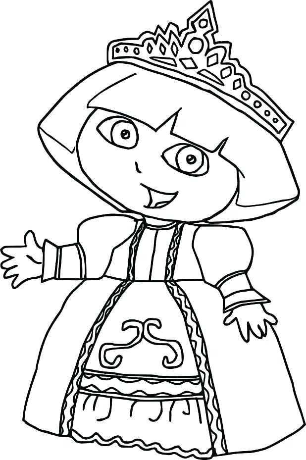 618x929 Dora Coloring Page Hello Coloring Page Dora Coloring Pages Youtube