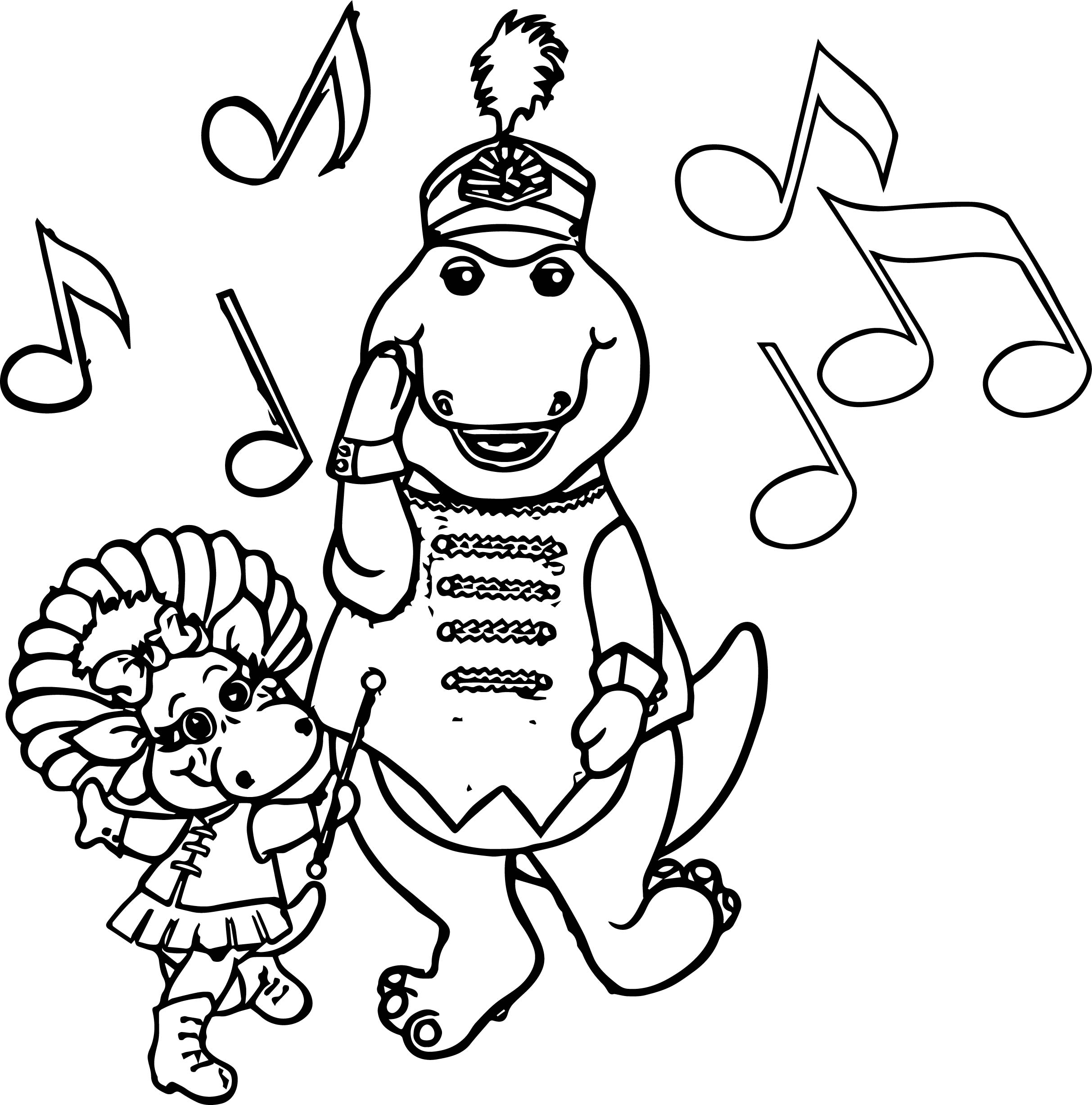 2426x2454 Marvelous Barney Coloring Pages Episode Color Youtube