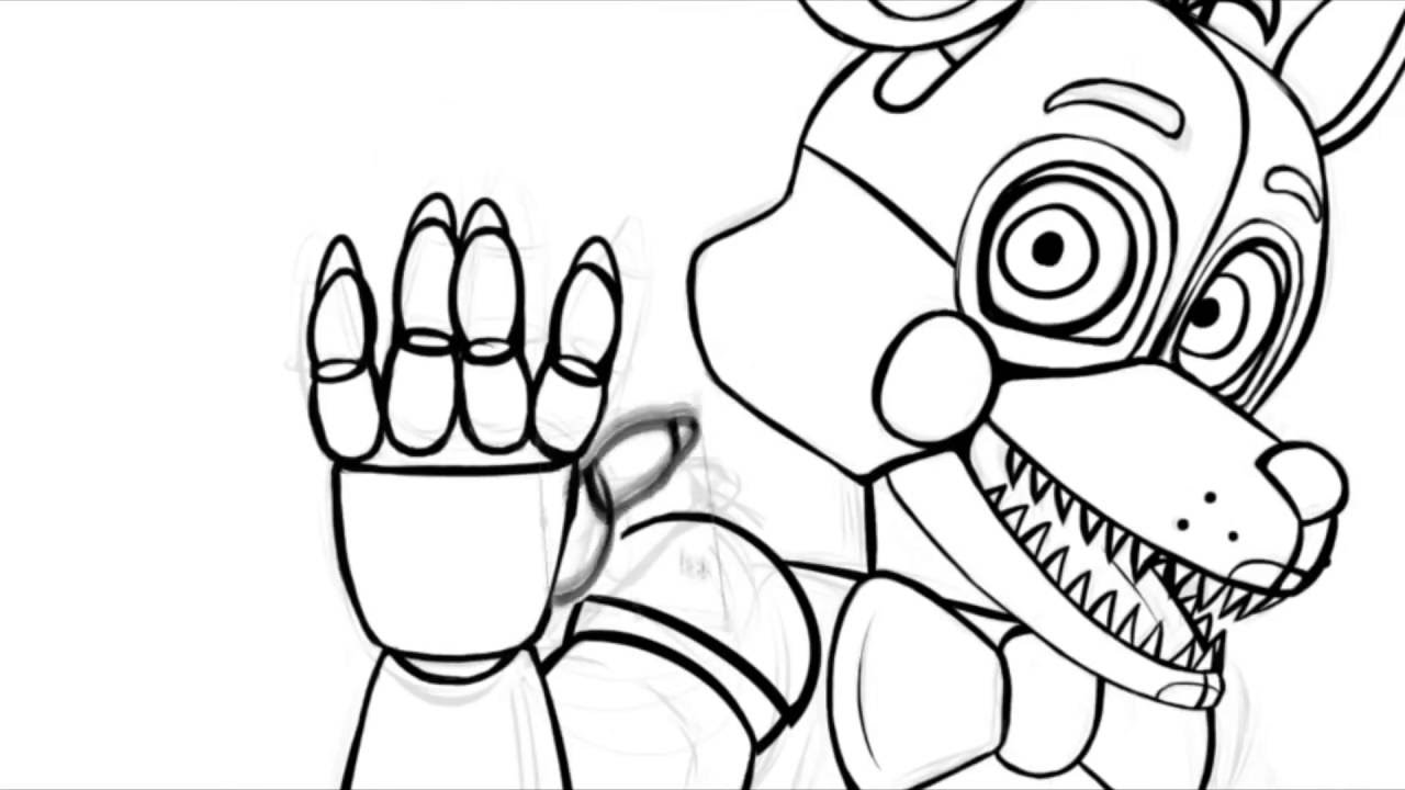 1280x720 Weird Fnaf Sister Location Coloring Pages Speed Paint Youtube
