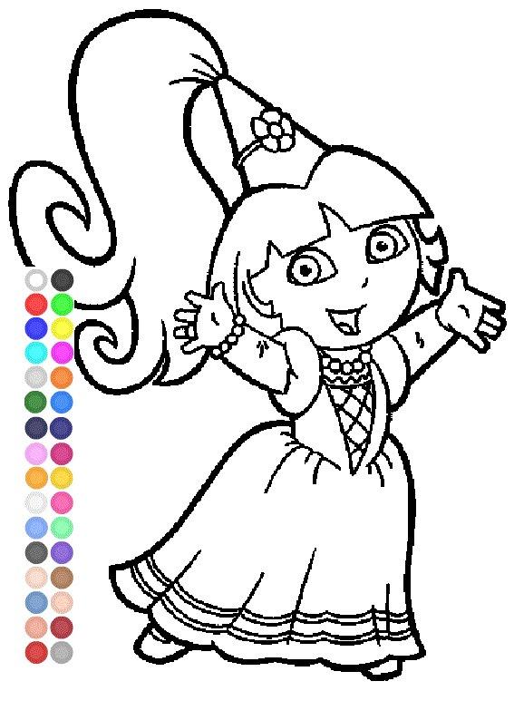 567x794 Dora Coloring Games