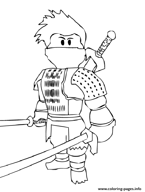 605x804 Print Roblox Ninja Coloring Pages Smith Free