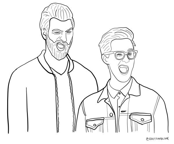 600x495 Rhett And Link Coloring Page