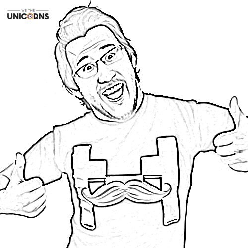 500x500 Youtuber Coloring Pages