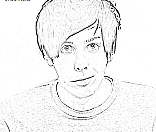 500x425 Youtuber Coloring Pages Heres Free Youtuber Colouring Book