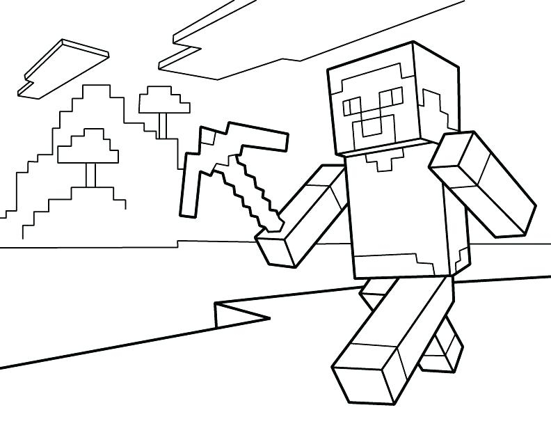 792x612 Fantastic Free Minecraft Coloring Pages Frieze