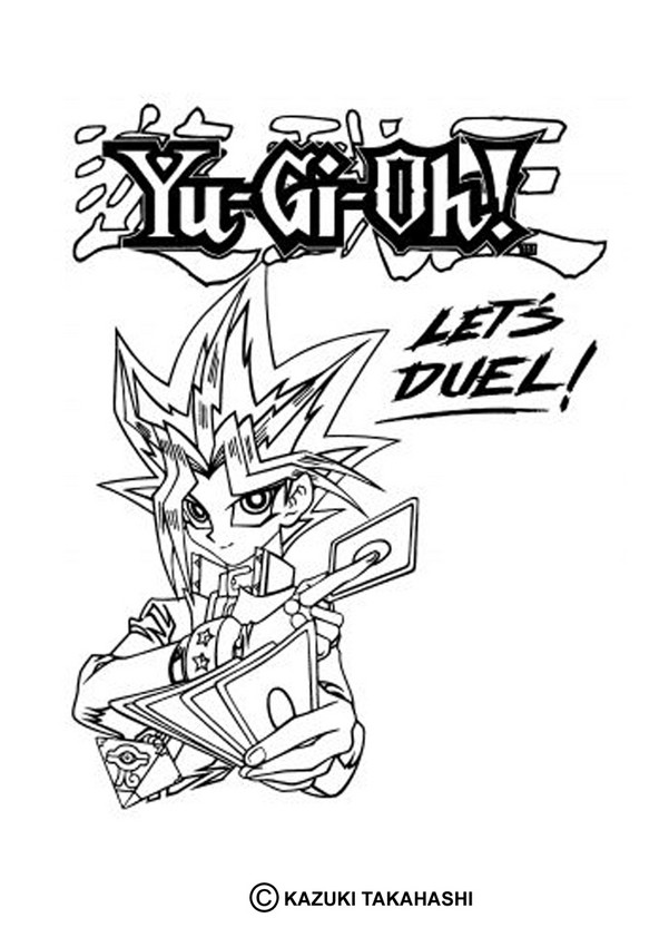 601x850 Let's Duel Yu Gi Oh Coloring Pages