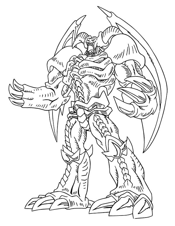 600x775 Red Eyes Dragon From Yu Gi Oh Coloring Page