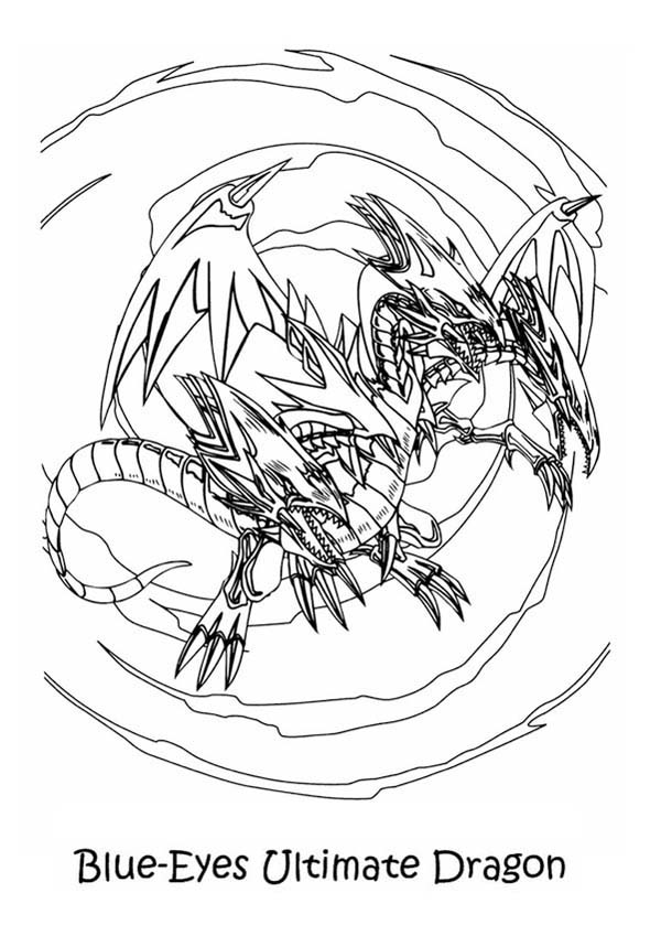 600x849 Red Eyes Black Dragon Coloring Pages