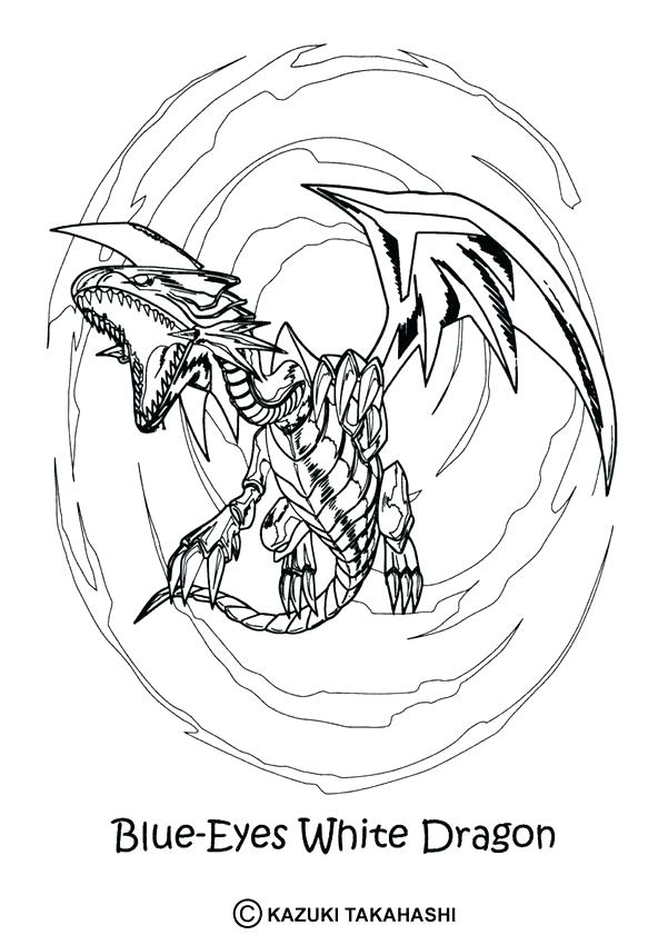 601x850 Yu Gi Oh Coloring Pages To Print White Dragon Page Coloring